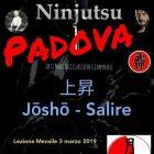 Ninjutsu Padova – Lezione mensile – Jōshō – Salire