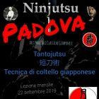 Ninjutsu Padova – Lezione mensile – Tantojutsu – Tecnica di coltello giapponese